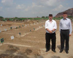 Bilal Atkinson (right) with Tahir Selby in Bahishti Maqbara, Pakistan, in 2010.