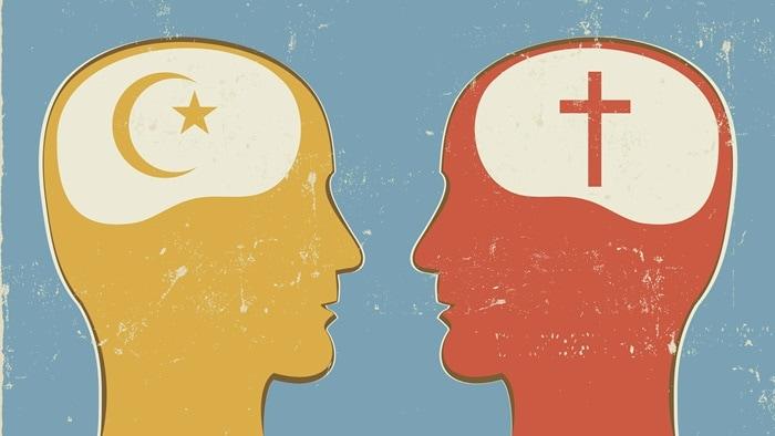 Muslim Christian cross crescent 1